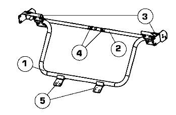 1. Потяните за петлю подушки заднего сиденья и откиньте подушку вперед.  2. Открутите два болта крепления спинки...